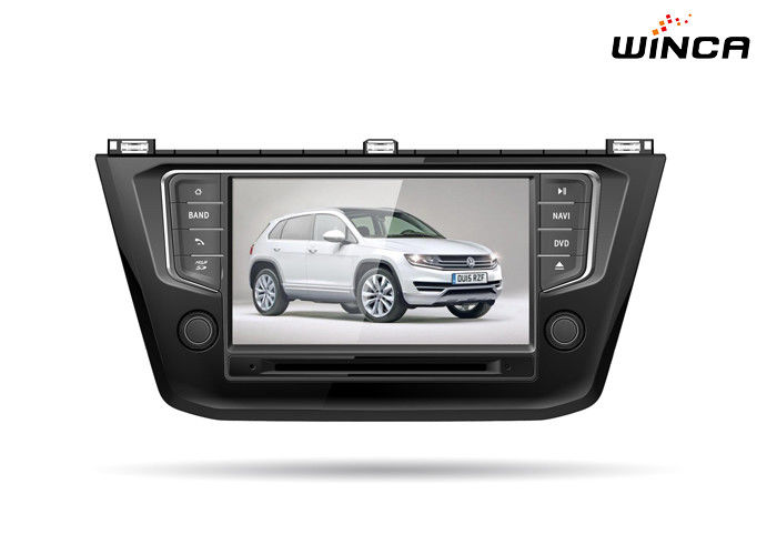 Black Volkswagen GPS Navigation 2016 8 Inch Screen Vw Touran Dvd Player